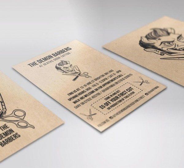 Kraft business cards printing brighton