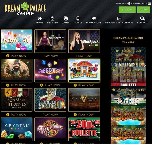 Dream Palace Casino Review