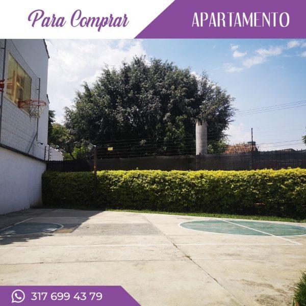 Apartamento en Cañaveralejo cancha de baloncesto