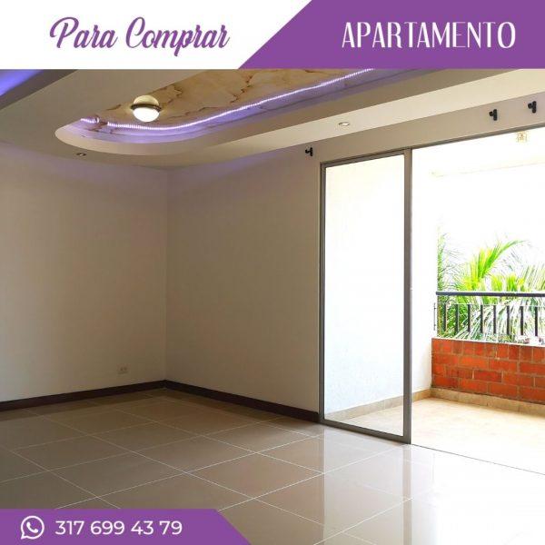 Apartamento en Cañaveralejo amplia sala y balcón