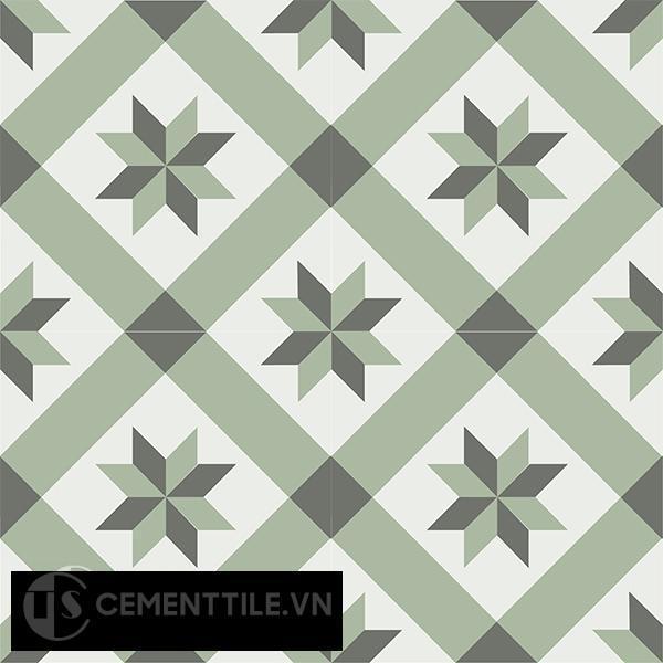 Gạch bông CTS 11.8(3-4-7) - 4 viên - Encaustic cement tile CTS 11.8(3-4-7)-4 tiles