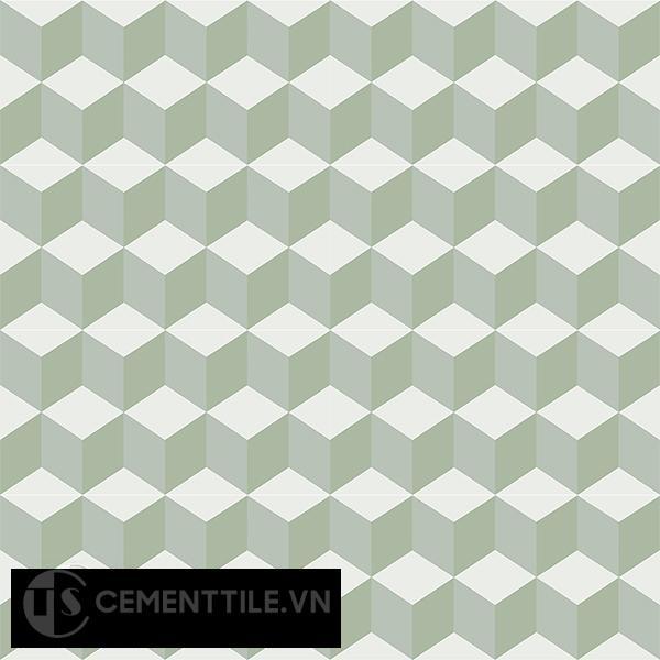 Gạch bông CTS 8.13(4-7-26) - 16 viên - Encaustic cement tile CTS 8.13(4-7-26)-16 tiles