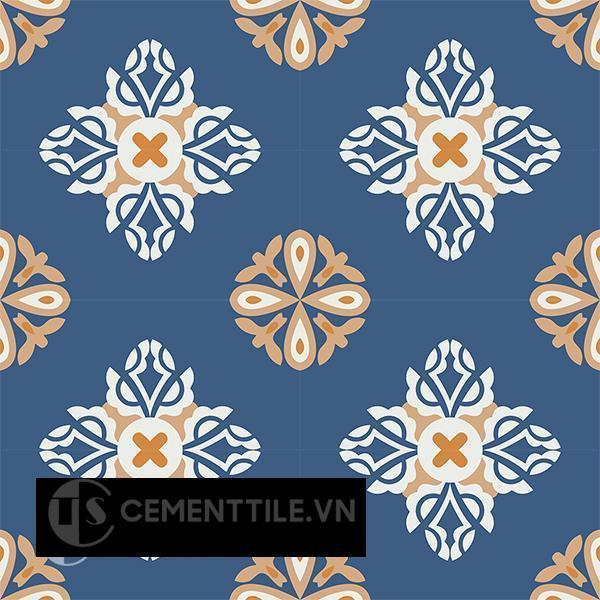 Gạch bông CTS 191.1(03-04-05-4) - 16 viên - Encaustic cement tile CTS 191.1(03-04-05-4)-16 tiles