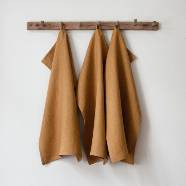 Caramel handduk från Linneverket