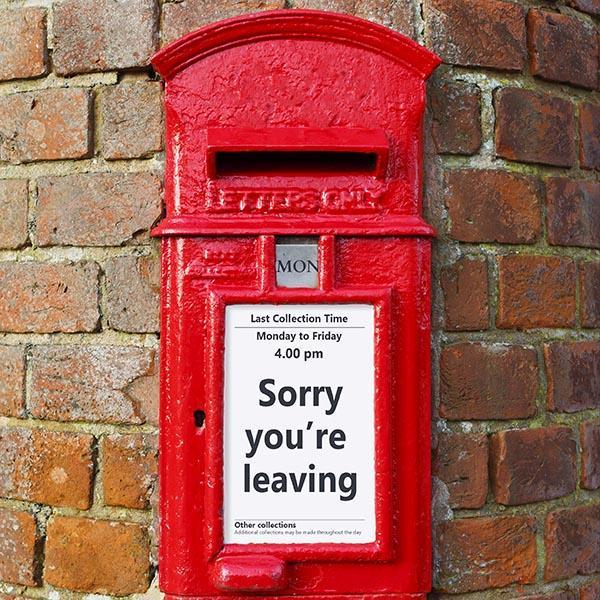 British post box on brick wall