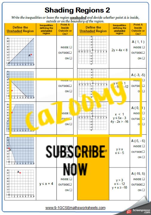 Algebra Worksheet 6