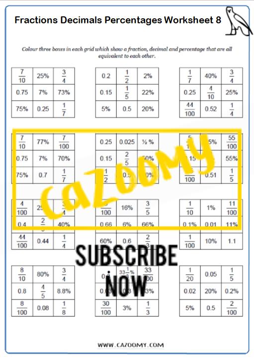 Equivalence Worksheet 8