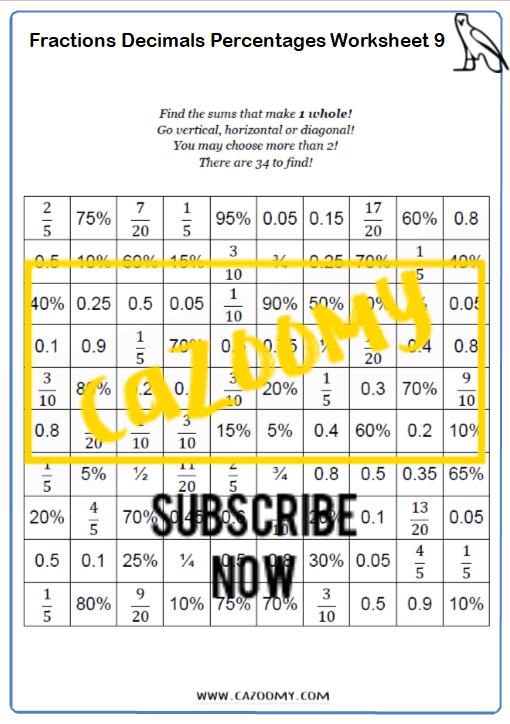 Equivalence Worksheet 9