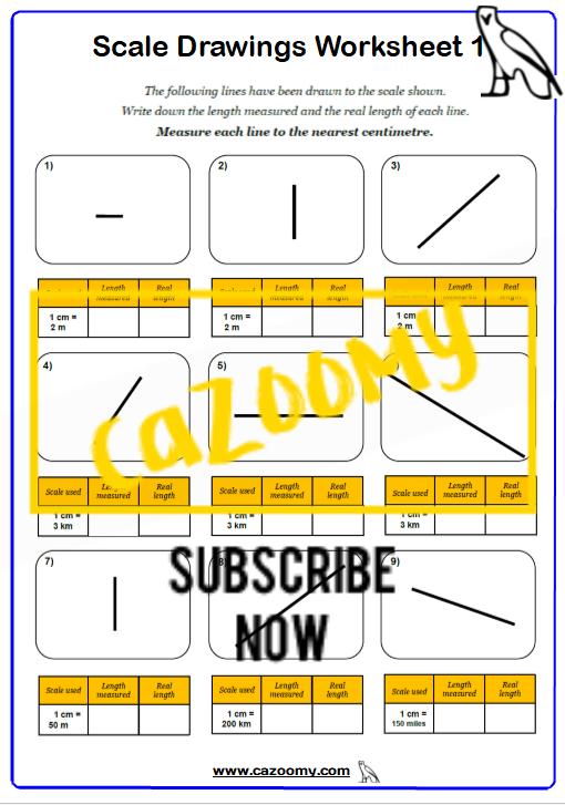 Scale Drawings Worksheet 1