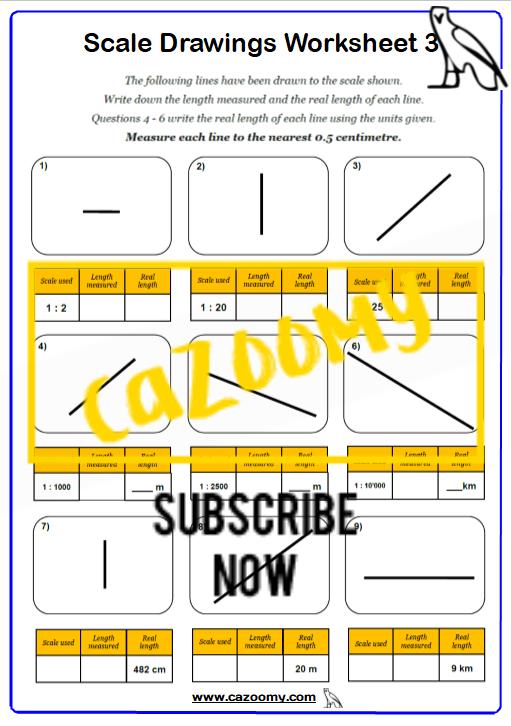 Scale Drawings Worksheet 3
