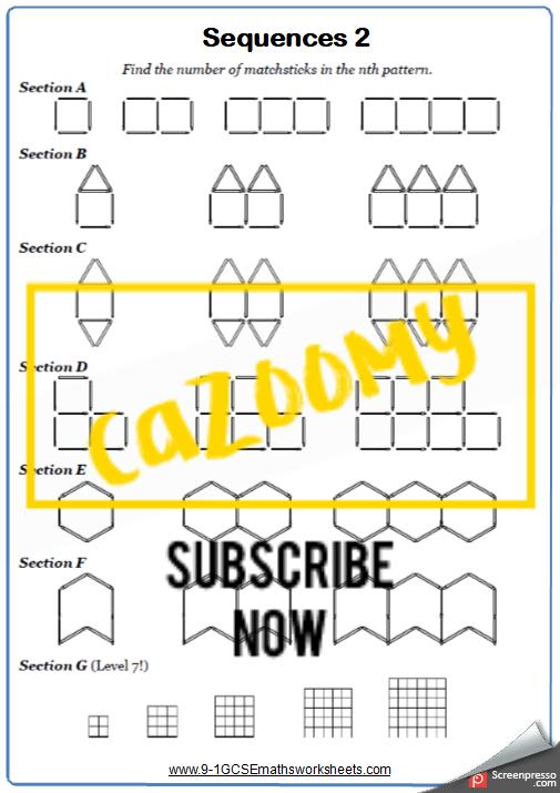 Sequences Worksheet 2