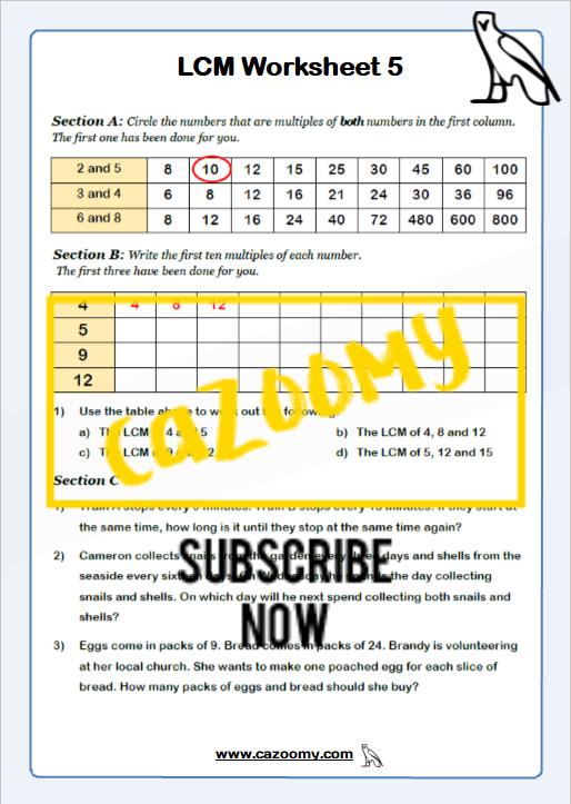 Types of Number Worksheet 5