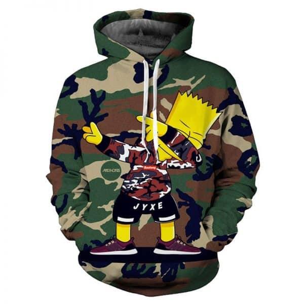 Chill Hoodies Bart Simpson Hoodie The Simpsons TV Franchise Unisex Adult Sweatshirt