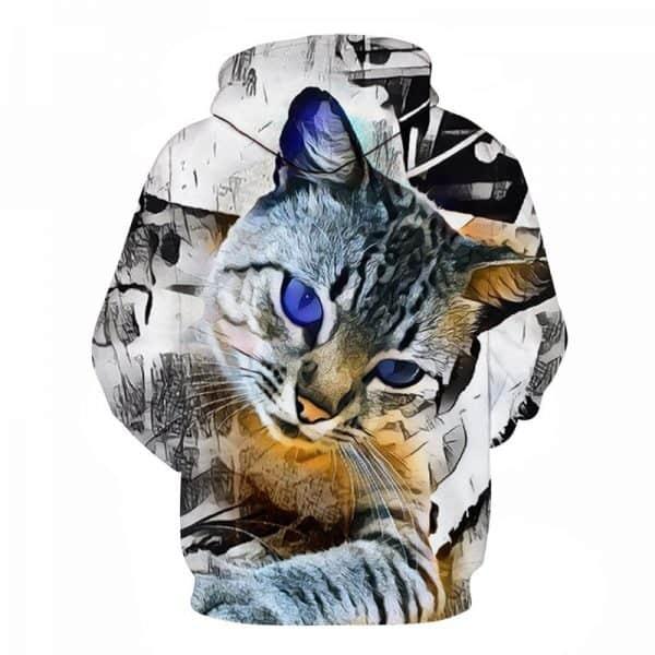 Blue Eyed Cat Hoodie