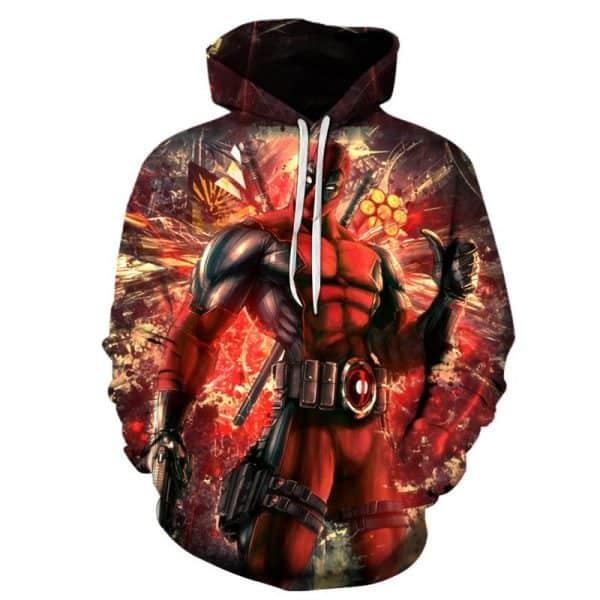 Chill Hoodies Deadpool Hoodie Marvel Comics Franchise Unisex Adult Sweatshirt