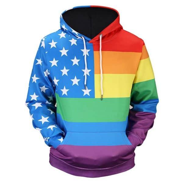 Chill Hoodies LGBT Hoodie United States America Unisex Adult Sweatshirt