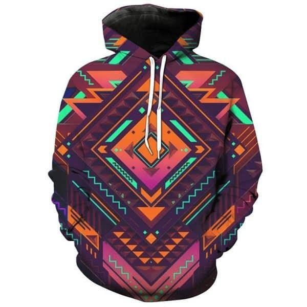 Chill Hoodies Geometry Pattern Hoodie Unisex Adult Sweatshirt