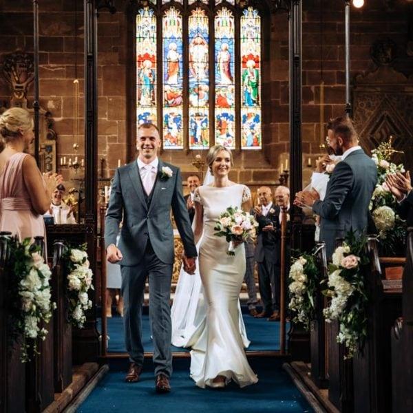Church wedding in Cheshire