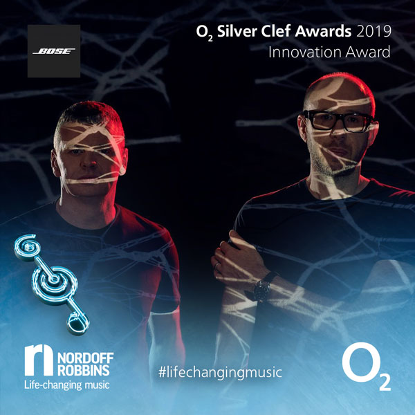The Chemical Brothers promotional shot for O2 Silver Clef Awards 2019