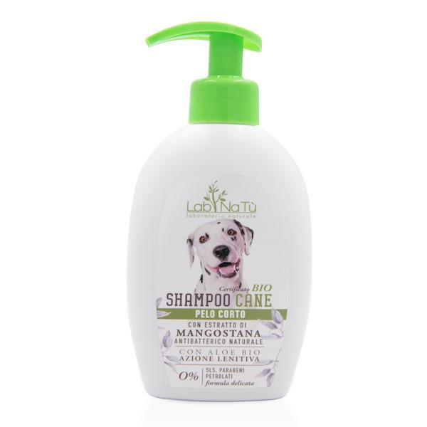 Shampoo Cane Pelo corto con Mangostana e Aloe Vera Bio