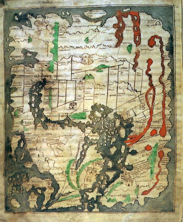 El mapa de Cottoniana se sale de la tradición cartográfica medieval