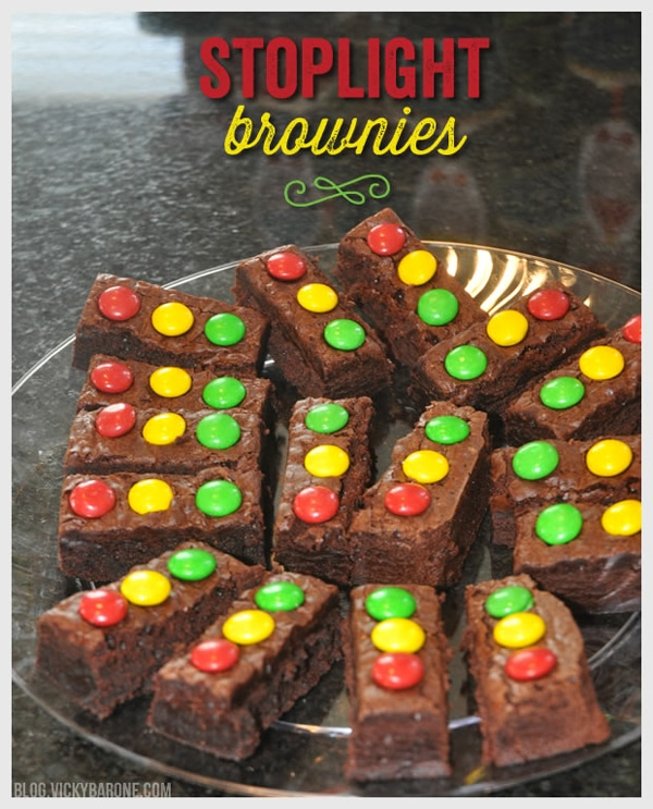 Cars Party Stoplight Brownies | Pretty My Party