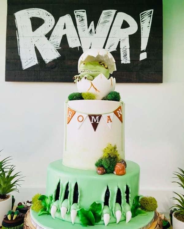 Cool Dinosaur Birthday Cake