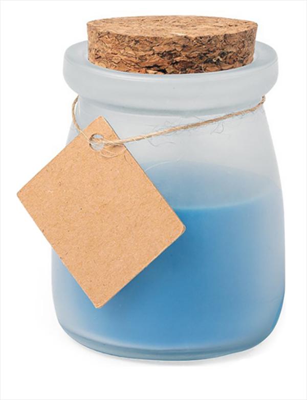 Geschenkkerze blau