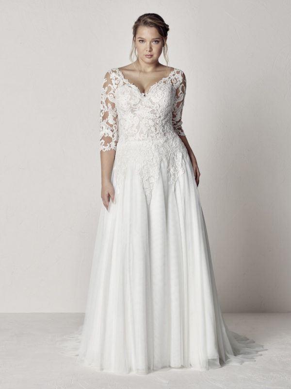 vestidos-de-novia-manga-larga-talla-grande-etolia-plus-pronovias
