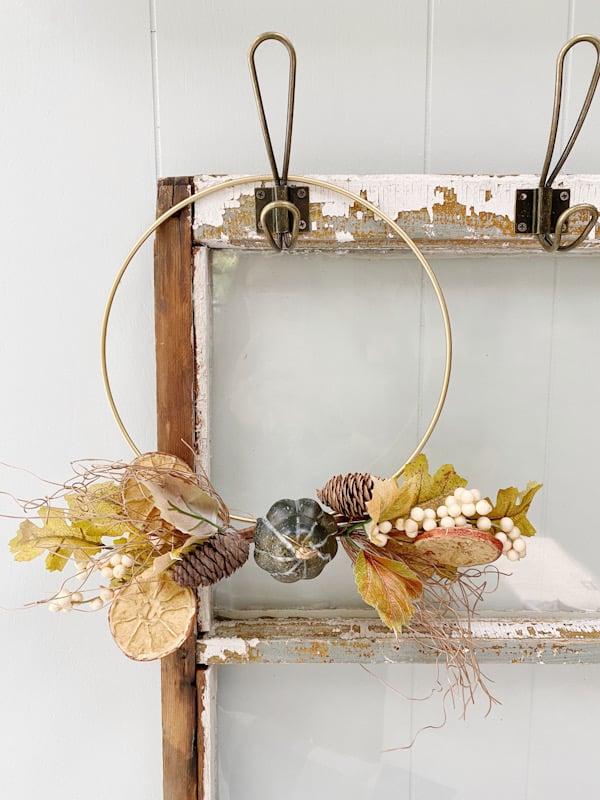 fall gold hoop wreath