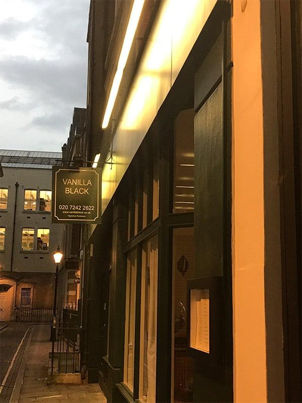 Restaurant Vanilla Black à Londres