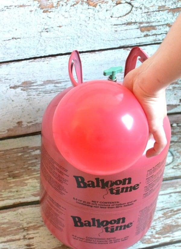 Balloon Time Helium Tank, DIY Ice Cream Cone Balloons via Pretty My Party