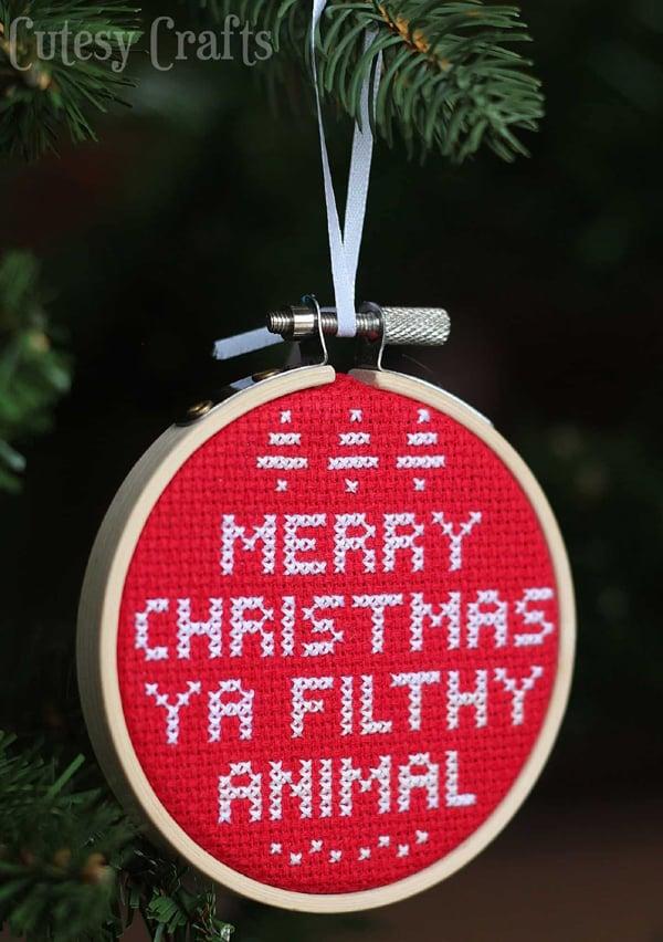 Ya Filthy Animal DIY Christmas Ornament