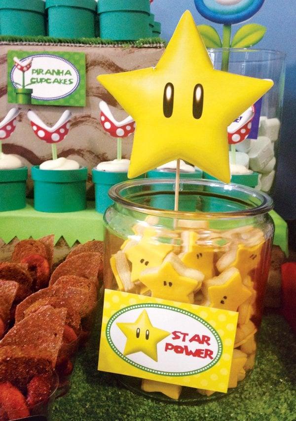 Star Power Cookies | Super Mario Party Ideas