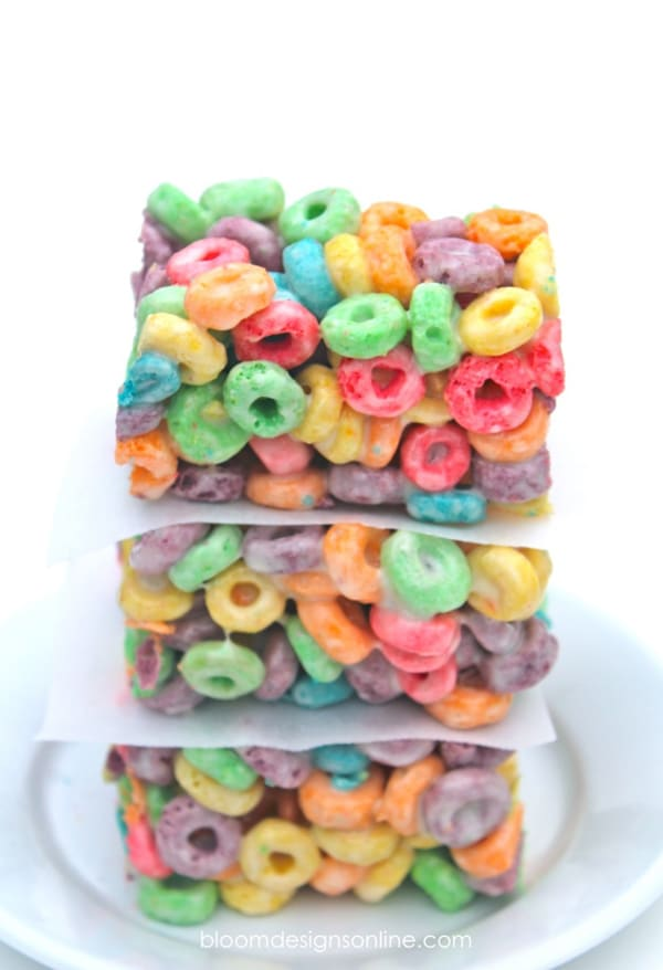 Rainbow Bars Desserts for Care Bears Party