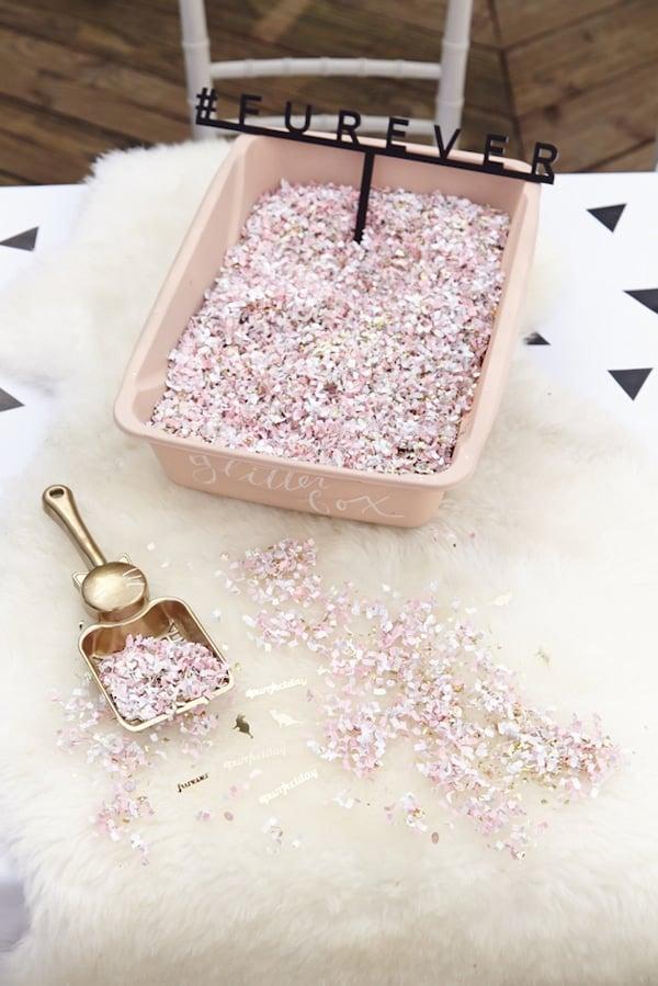 Cat Party Glitter Confetti Box