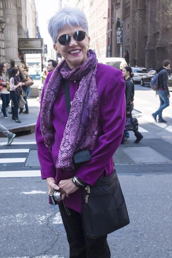 happy in purple | 40plusstyle.com