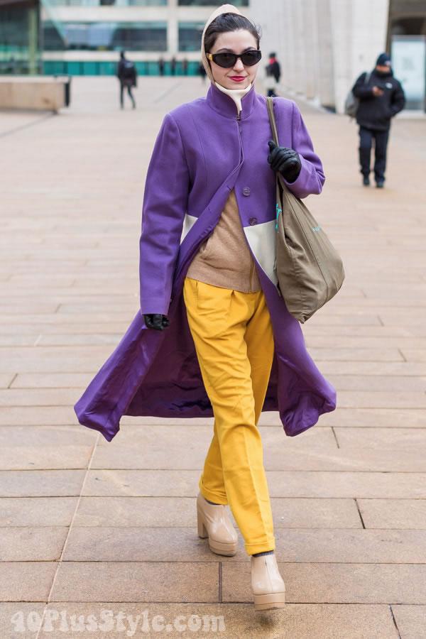 purplecolorblockcoat
