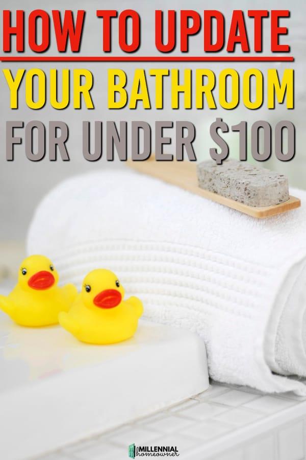 update your bathroom for under 100