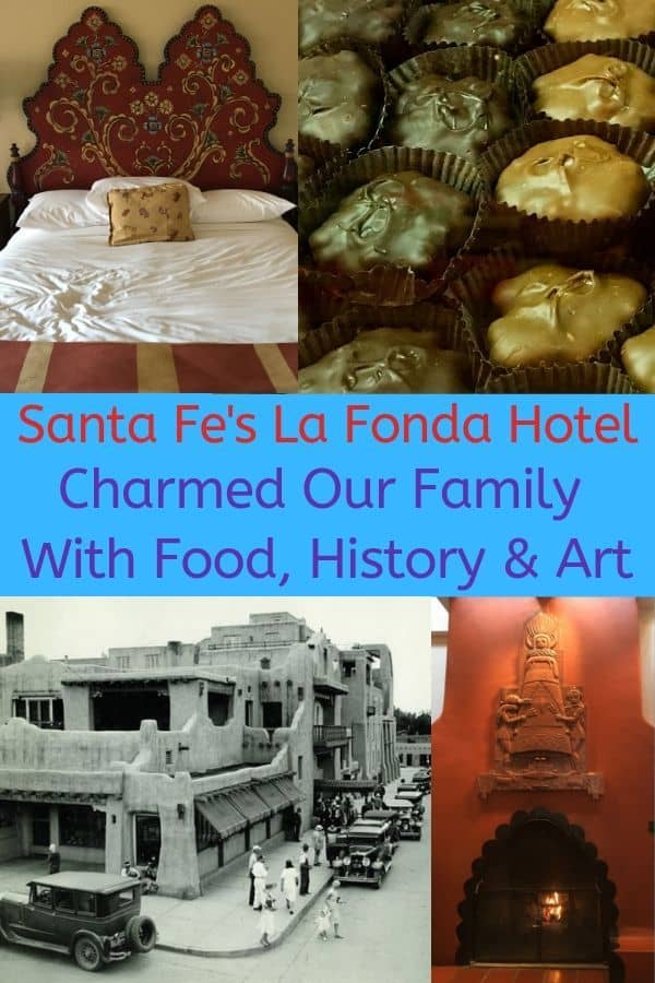 La Fonda on the Plaza in Santa Fe is a charming historic hotel in the center of old town with a pool and a great restaurant. It's a surprisingly perfect fit for families. #hotel #review #lafonda #santafe #newmexico #kids