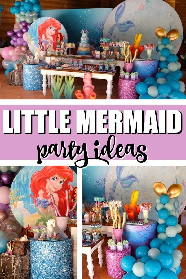 Elegant Little Mermaid Birthday Party Ideas on Pretty My Party
