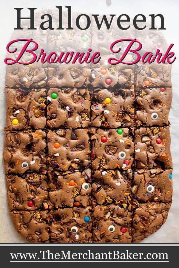 Halloween Brownie Bark