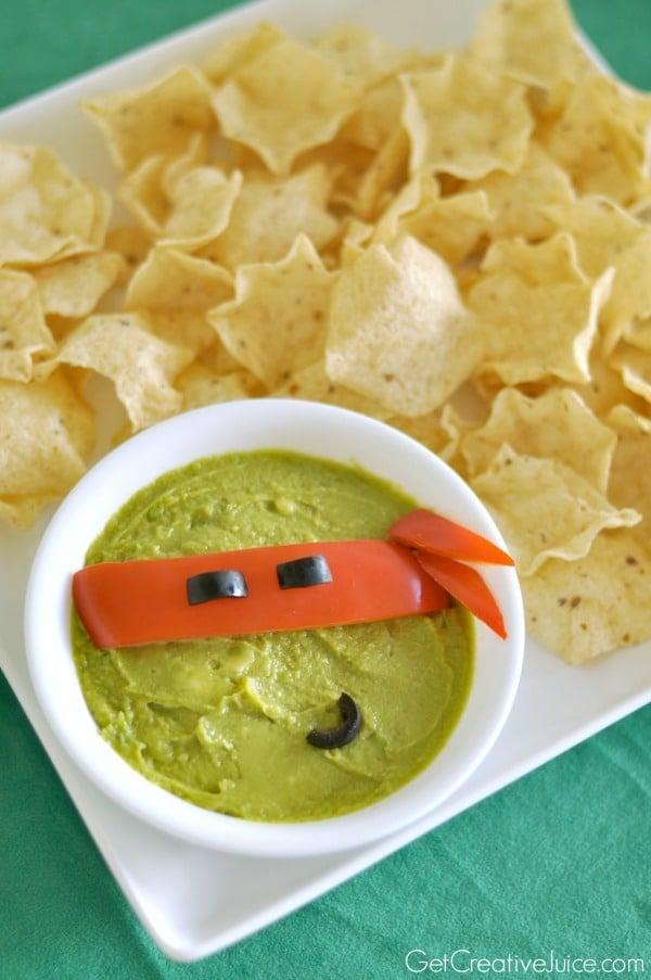 Ninja Turtle Guac and Dip Party Idea