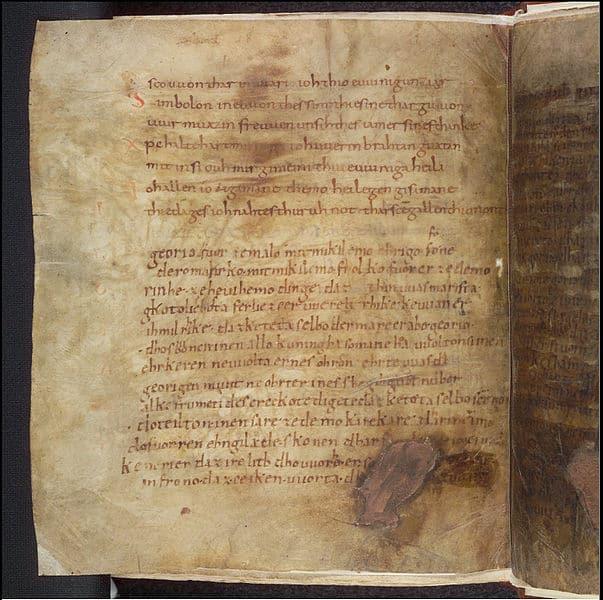 Fragmentarische Abschrift des Georgsliedes