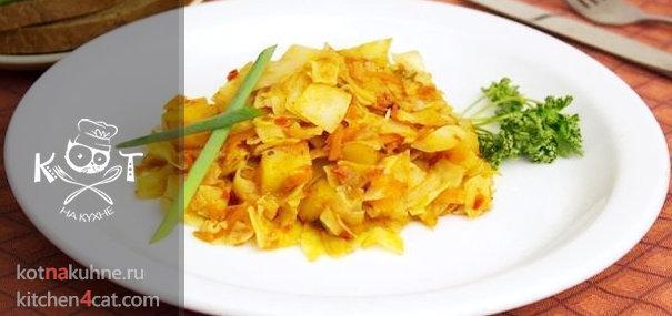 Овощное рагу с капустой и картофелем