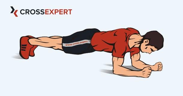 Упражнение планка на локтях