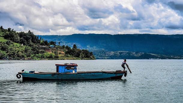 pêche lac toba sumatra
