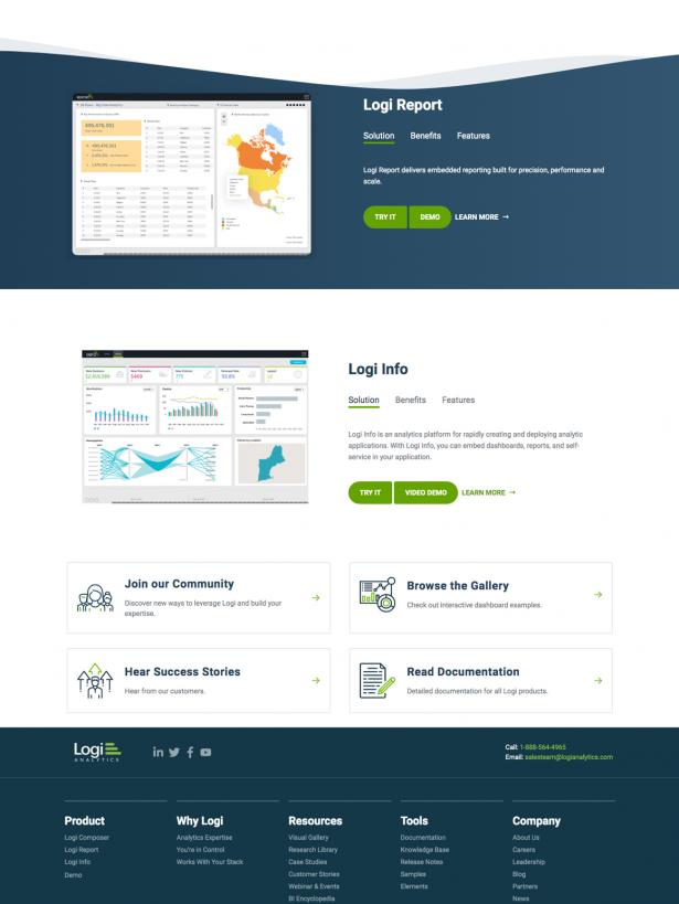 Logi Solutions page