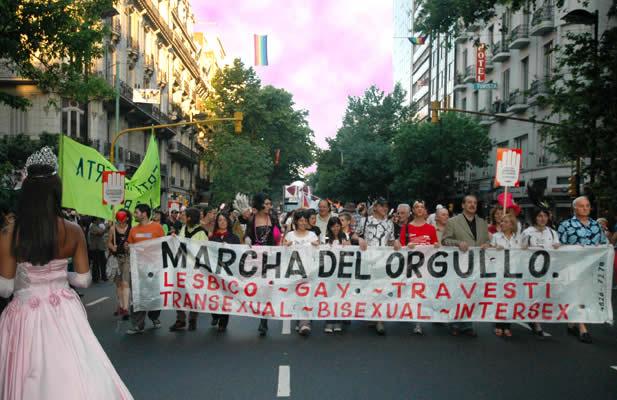 The Buenos Aires Gay Pride parade begins its march up Avenida de Mayo