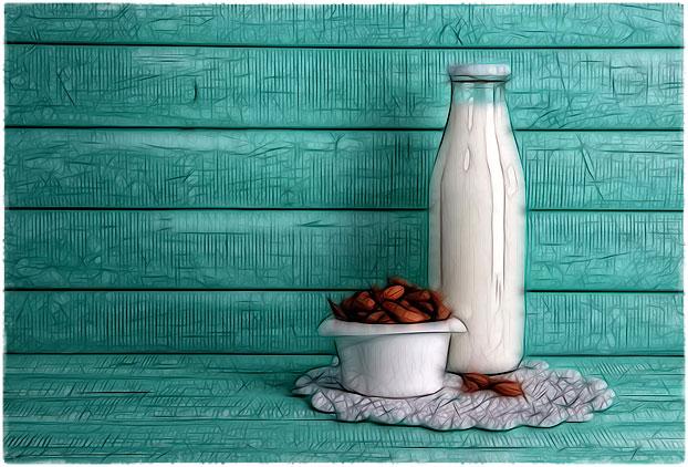 Молоко и миндаль